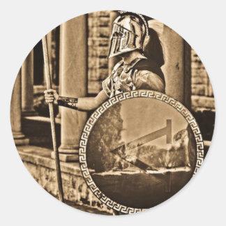 oude Spartaans Ronde Sticker