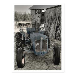 oude tractor briefkaart