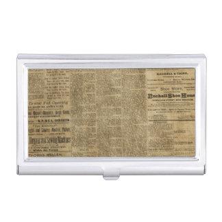Oude Vintage Krant Visitekaarthouder
