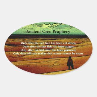 Oude Voorspelling Cree Ovale Sticker
