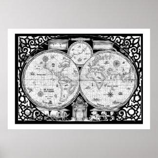 oude wereldkaart No.2, tony fernandes Poster