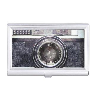 Oude zwarte camera visitekaarthouder