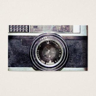Oude zwarte camera visitekaartjes