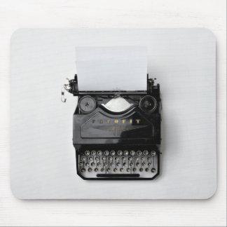 oude zwarte klassieke vintage schrijfmachine muismatten