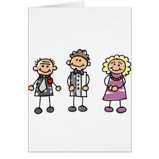 Ouders van de Bruidegom op de Dag van het Huwelijk Wenskaart