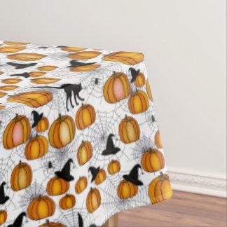 Ouderwets Halloween met Oranje Pompoenen Tafelkleed