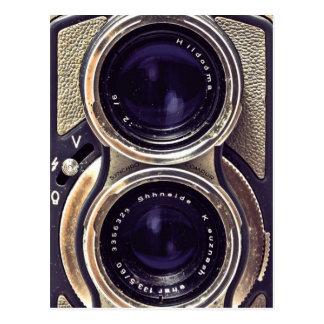 Ouderwetse camera briefkaart