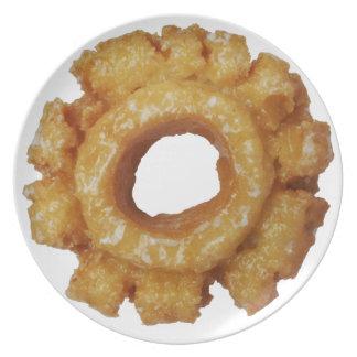 Ouderwetse Verglaasde Donuts Bord