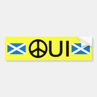 Oui Geen Sticker van de Onafhankelijkheid van