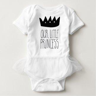 Our little princess baby bodysuit