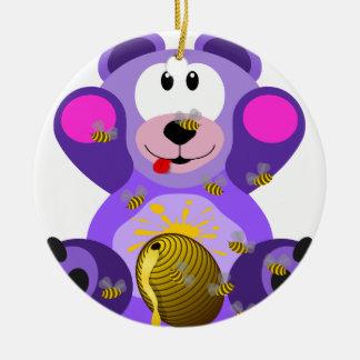 Ourson Rond Keramisch Ornament