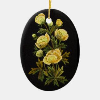 Ovaal Ornament leeftijdlooze Globeflower