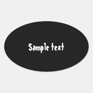 OVALE Schaduwen - GEEF de Schaduw van de Kleur uit Ovale Sticker