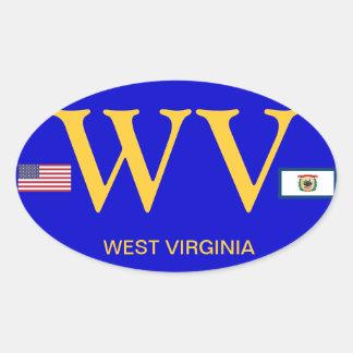 Ovale Sticker van de Stijl van Virginia* van het