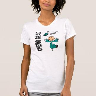 Ovariaal AFSTUDEERDER 1 van Kanker CHEMO T Shirt