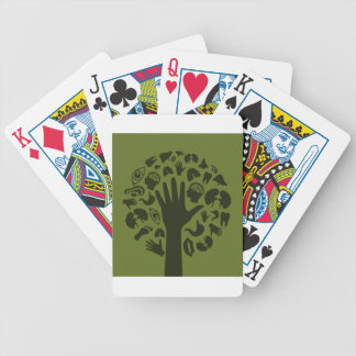 Overhandig een tree3 bicycle speelkaarten