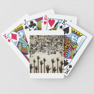 Overhandig een wetenschap poker kaarten