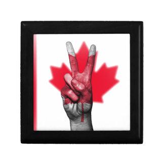 Overheid van het Parlement van de Vlag van Canada Decoratiedoosje