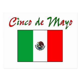 Overhemd & Giften van de Vlag van Cinco DE Mayo de Briefkaart