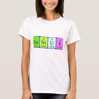 Overhemd van de de lijstnaam van het genie het t shirt