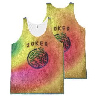 Overhemd van de Joker van Jongg van Mah Retro All-Over-Print Tank Top