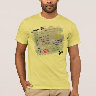 Overhemd van de Papa van werelden het Beste T Shirt