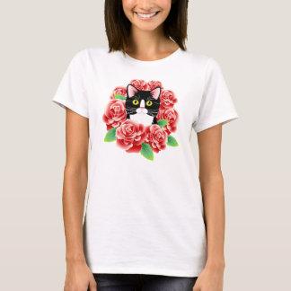 Overhemd van de Rozen van de Liefde van de Kat van T Shirt