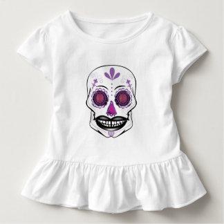 Overhemd van de Ruche van de Schedel van het Snoep Kinder Shirts
