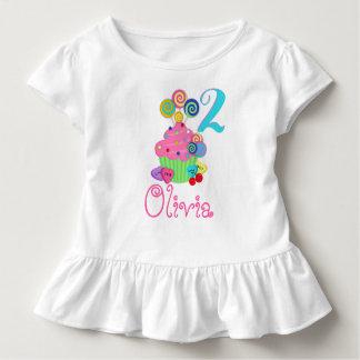 Overhemd   van de Verjaardag van Cupcake Zoete Kinder Shirts