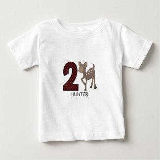 Overhemd van de Verjaardag van de Plaid van de Baby T Shirts