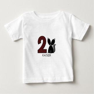 Overhemd van de Verjaardag van de Plaid van het Baby T Shirts