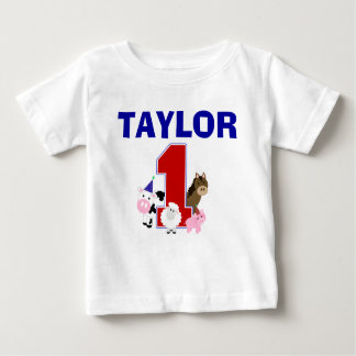 Overhemd van de Verjaardag van het boerenerf het Baby T Shirts