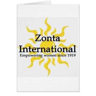 Overhemd van de Zon van Zonta het Internationale Wenskaart