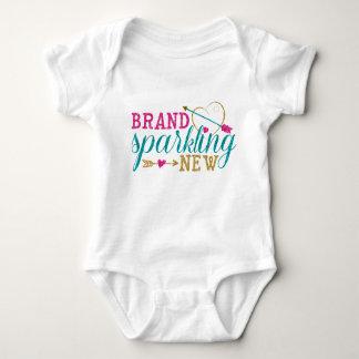 Overhemd van het Baby van het merk het Fonkelende Romper