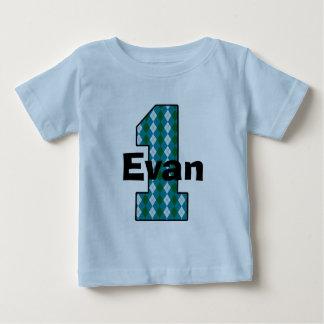 Overhemd van het Feestvarken van Argyle het Eerste Baby T Shirts