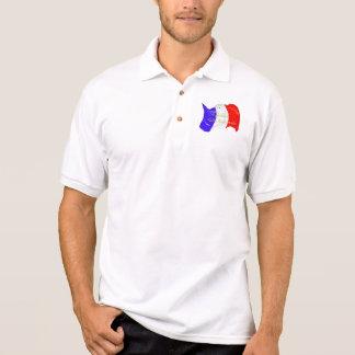 Overhemd van het Polo van de Vlag van Grunge het