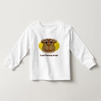 Overhemd van het Sleeve van de aap het Lange voor Kinder Shirts