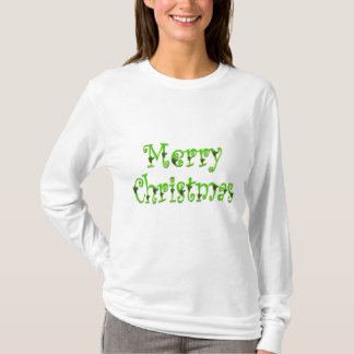 Overhemd van Kerstmis van de hulst het Vrolijke T Shirt
