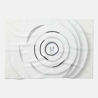 Overlappende Witte Ringen - faux 3D - de Handdoek
