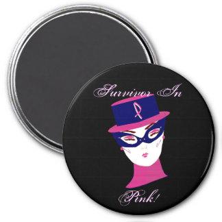 Overlevende in de Roze Voorlichting van Kanker Koelkast Magneetjes