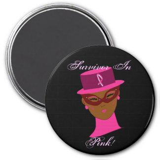 Overlevende in Roze Voorlichting I van Kanker Koelkast Magneet