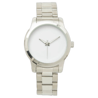 Overmaats Unisex- Zilveren Horloge