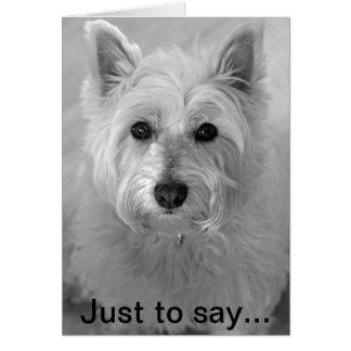 Overweldigende Hond Westie - Droevige Kaart