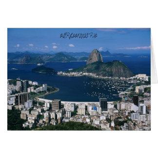 Overziend Rio, die RIO OVERZIEN Wenskaart