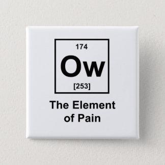 Ow, het Element van Pijn Vierkante Button 5,1 Cm
