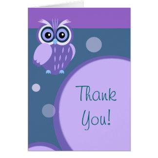 Owl~ dankt u kaart