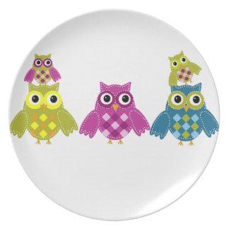 Owl houdt van u altijd melamine+bord