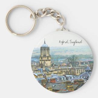 Oxford, Engeland, het Hoogste Uitzicht van het Dak Sleutelhanger