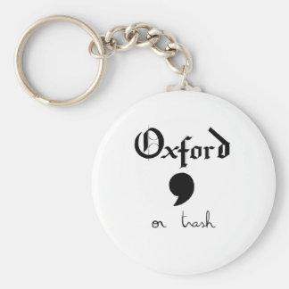 Oxford of Afval Sleutelhanger