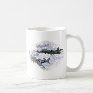 P-51 de vliegende escorte van de mustang koffiemok